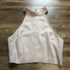 Forever 21 Light Pink Halter Crop Top